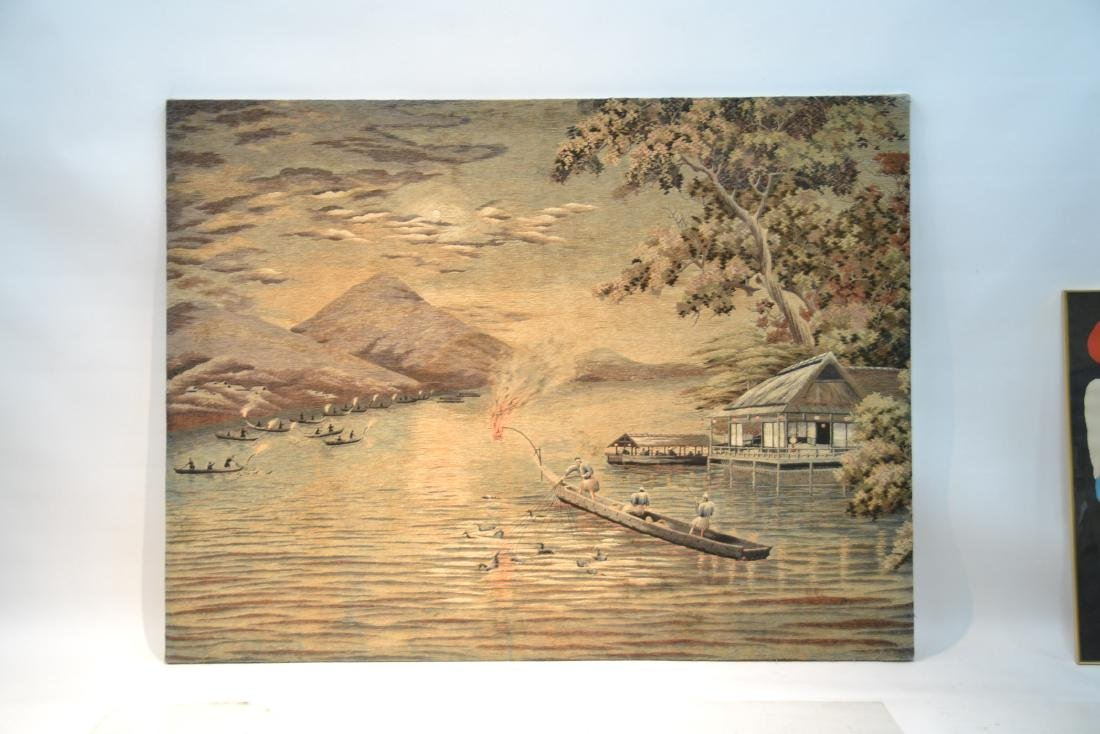 LARGE JAPANESE NEEDLEPOINT WALL HANGING - 10