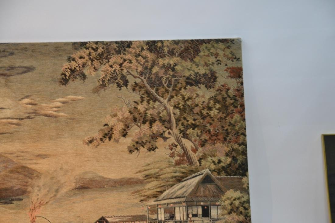 LARGE JAPANESE NEEDLEPOINT WALL HANGING - 3