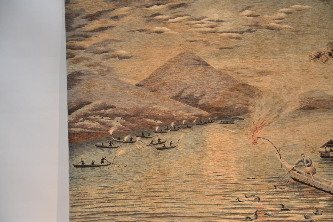 LARGE JAPANESE NEEDLEPOINT WALL HANGING - 4