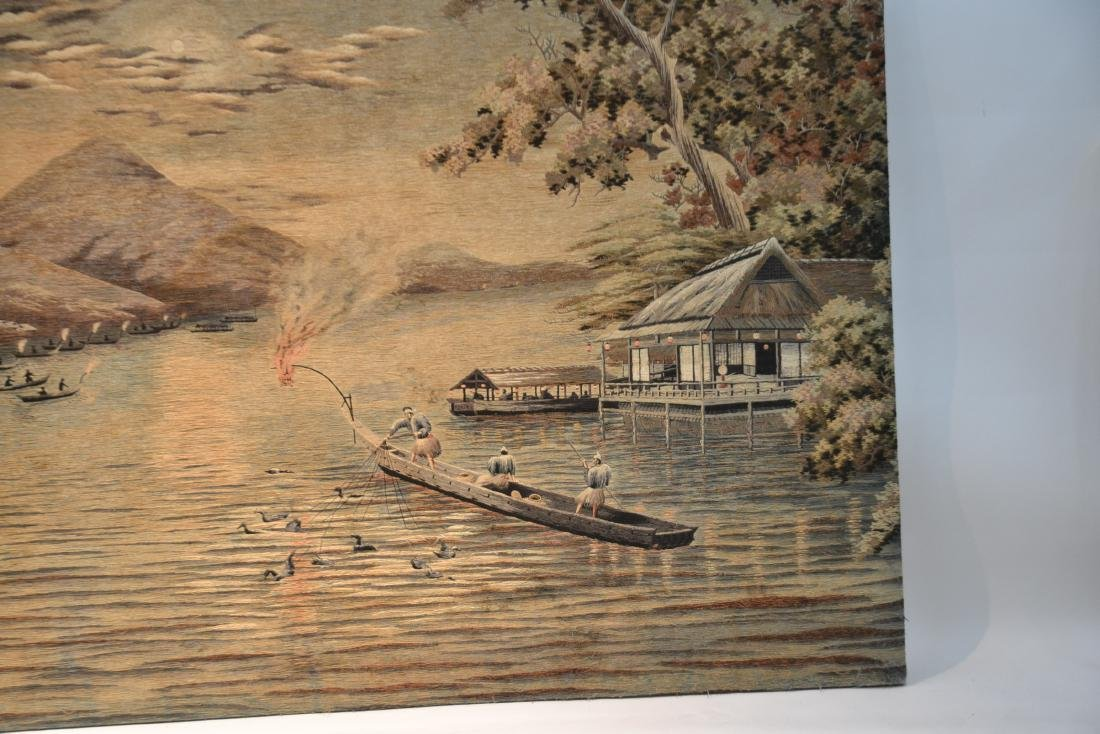 LARGE JAPANESE NEEDLEPOINT WALL HANGING - 7