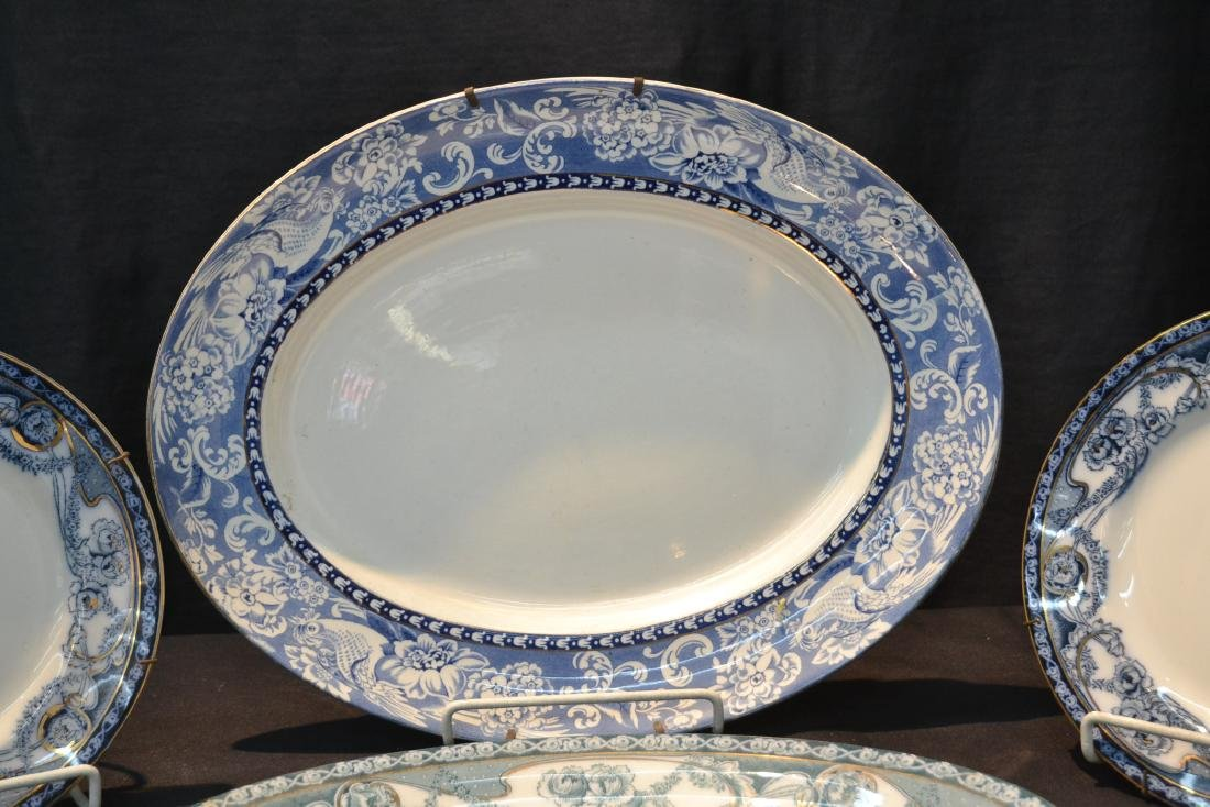 BLUE & WHITE ENGLISH STAFFORDSHIRE PIECES - 2