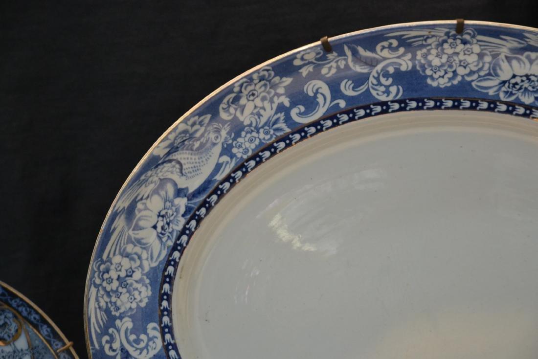 BLUE & WHITE ENGLISH STAFFORDSHIRE PIECES - 3