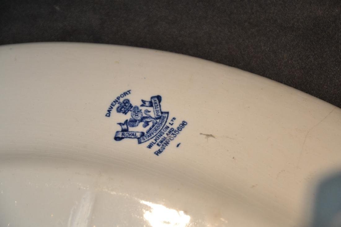 BLUE & WHITE ENGLISH STAFFORDSHIRE PIECES - 4