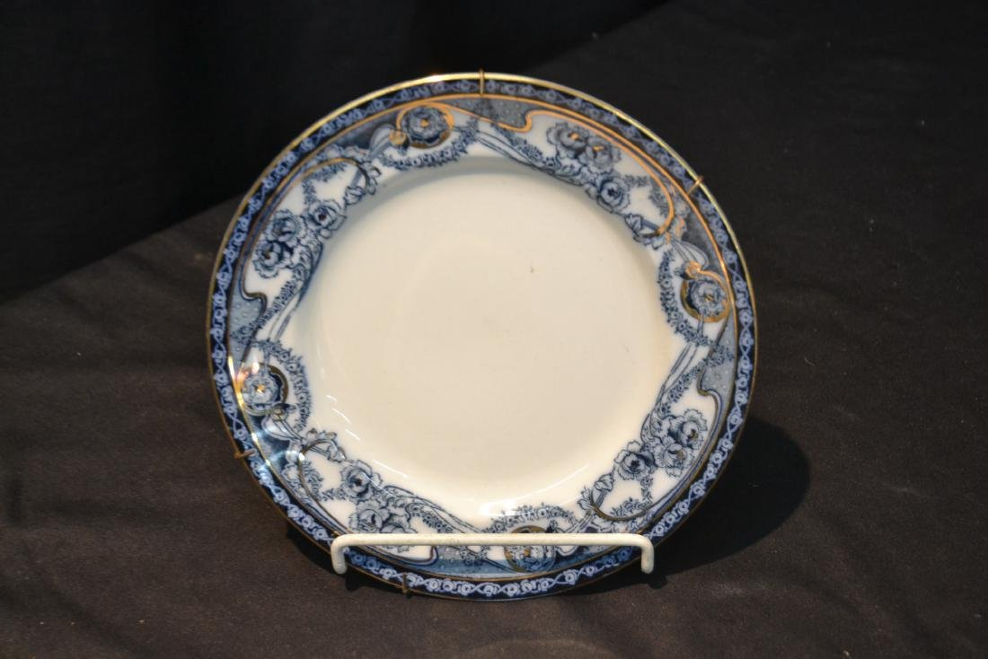 BLUE & WHITE ENGLISH STAFFORDSHIRE PIECES - 5