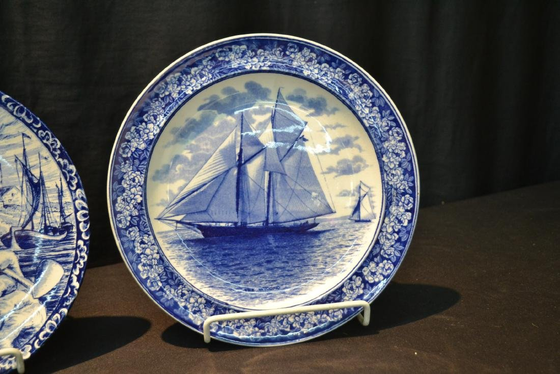 (2) WEDGWOOD BLUE & WHITE SAILBOAT PLATES - 3