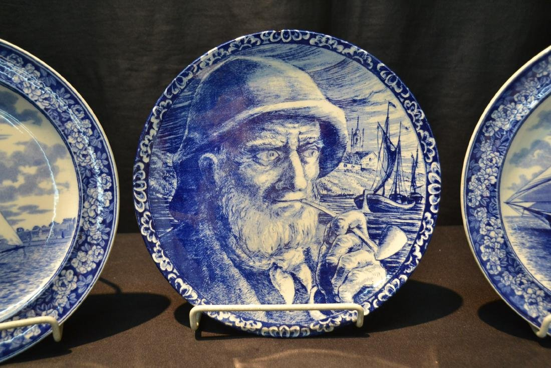 (2) WEDGWOOD BLUE & WHITE SAILBOAT PLATES - 5
