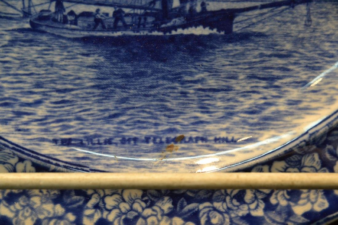 (2) WEDGWOOD BLUE & WHITE SAILBOAT PLATES - 6