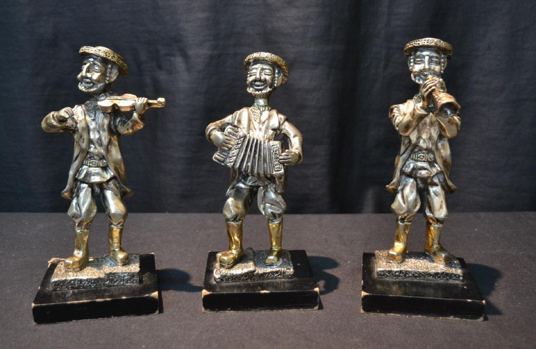 (3) STERLING SILVER MUSICAL JUDAICA FIGURES