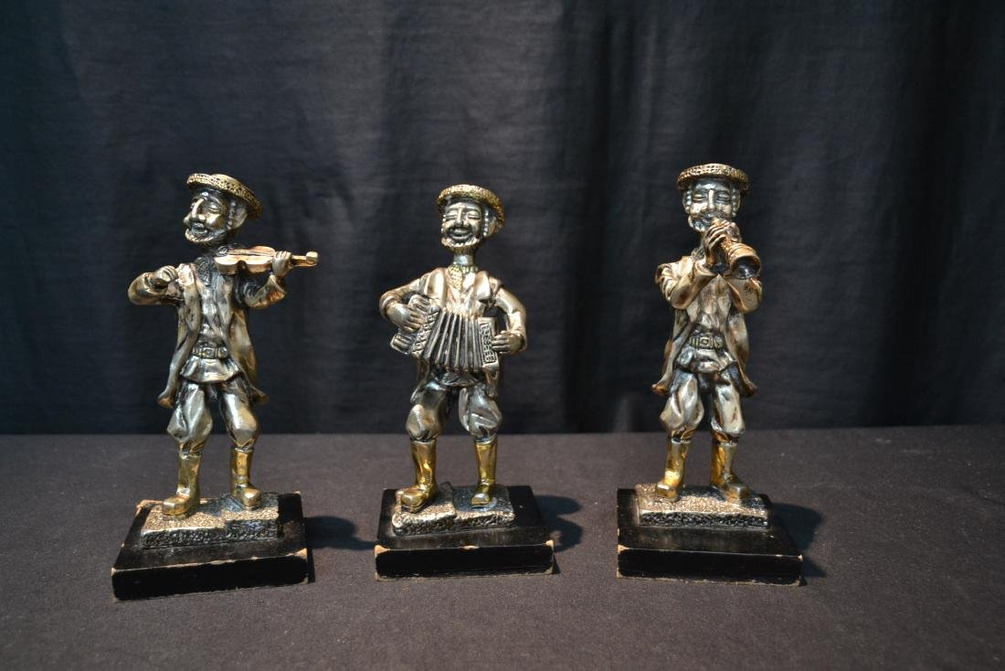 (3) STERLING SILVER MUSICAL JUDAICA FIGURES - 2