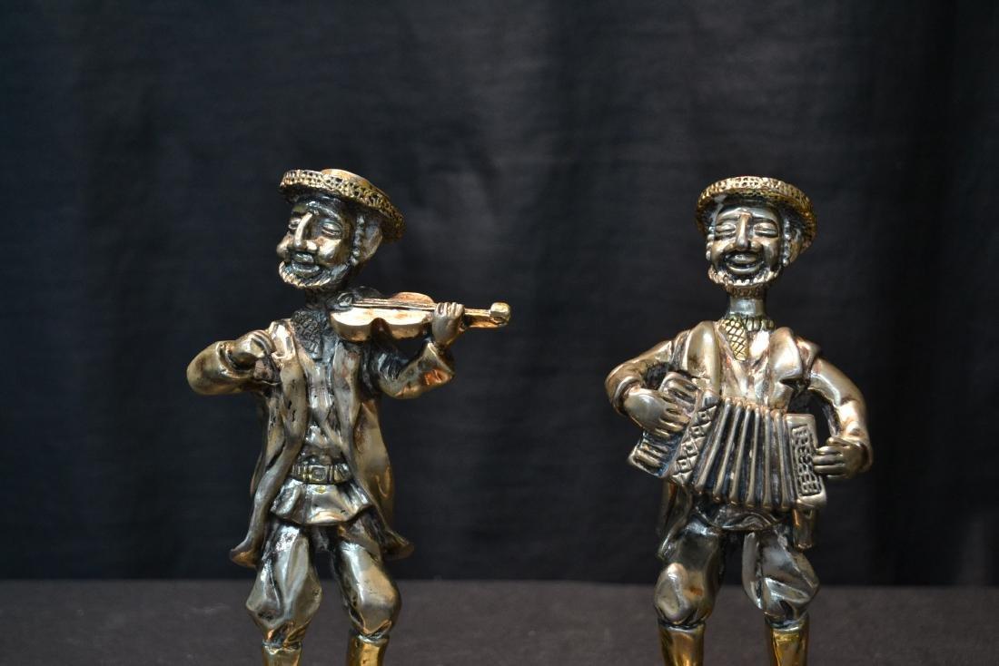 (3) STERLING SILVER MUSICAL JUDAICA FIGURES - 3