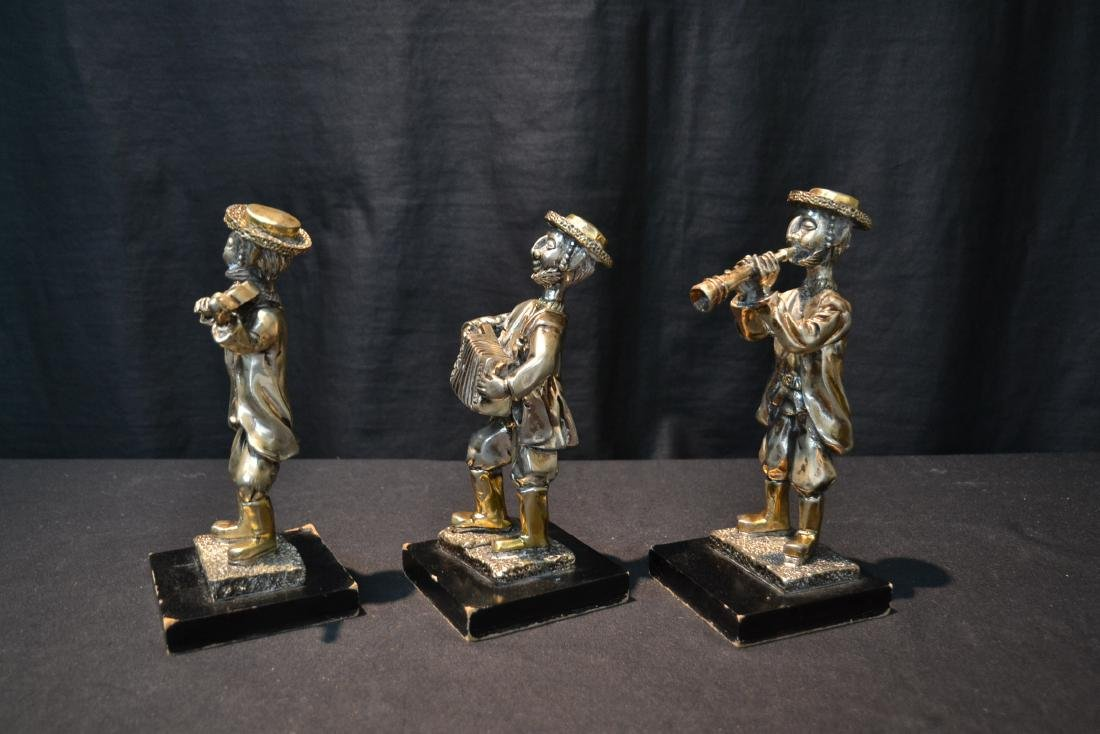 (3) STERLING SILVER MUSICAL JUDAICA FIGURES - 4