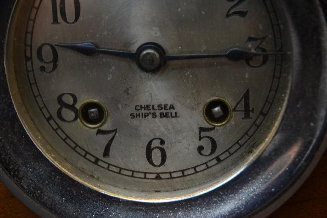 CHELSEA SHIP CLOCK & BAROMETER ON STAND - 4