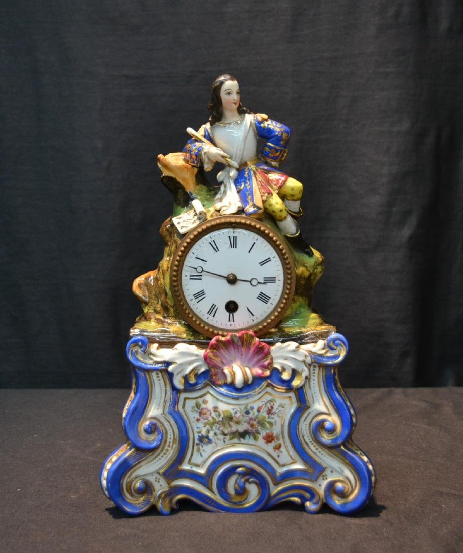 FRENCH JACOB PETIT PORCELAIN CLOCK WITH