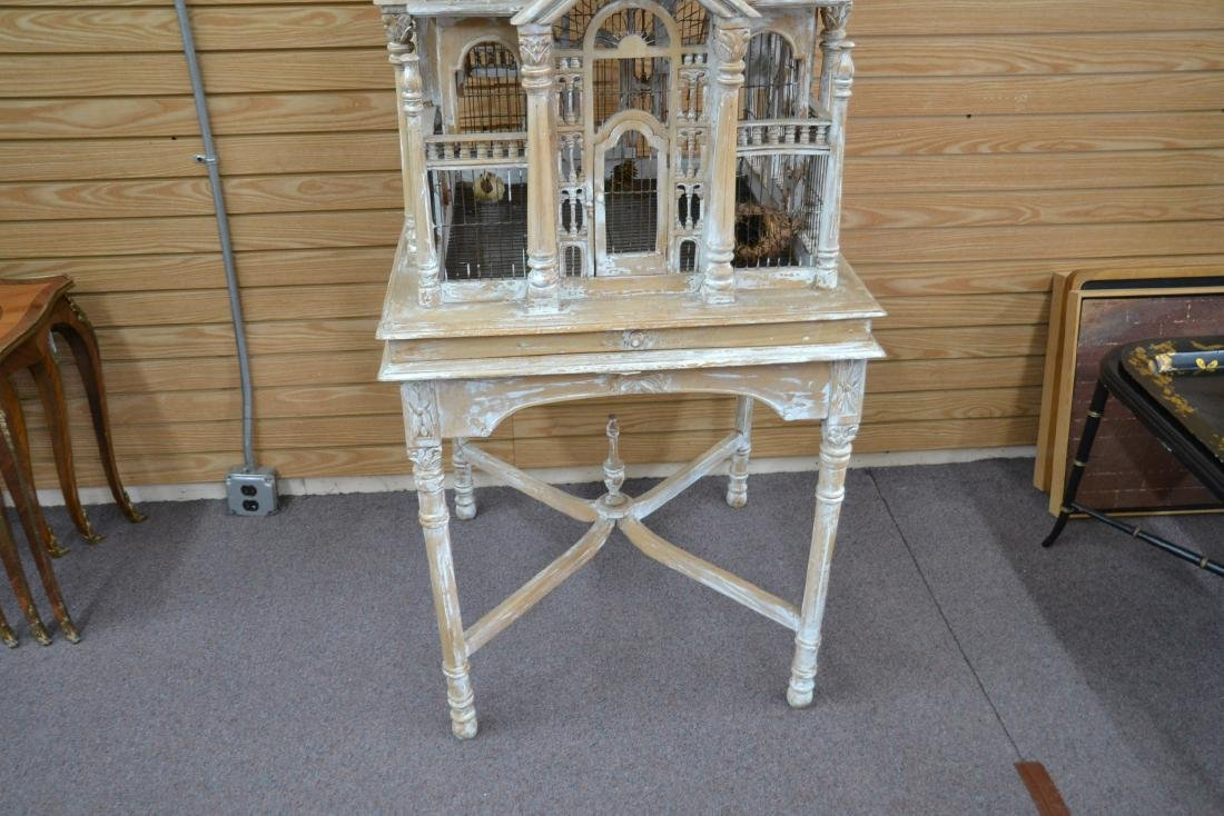 VICTORIAN STYLE ARCHITECTURAL MAHOGANY BIRDCAGE - 6