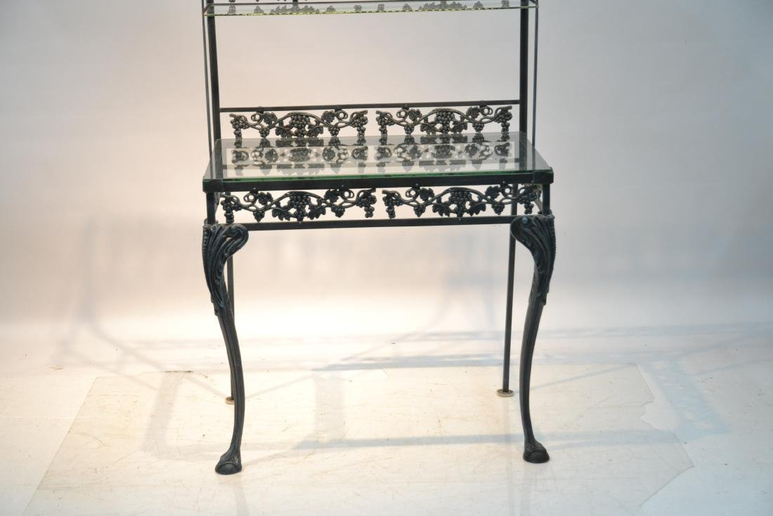 IRON ETAGERE RACK WITH GLASS TOP - 3