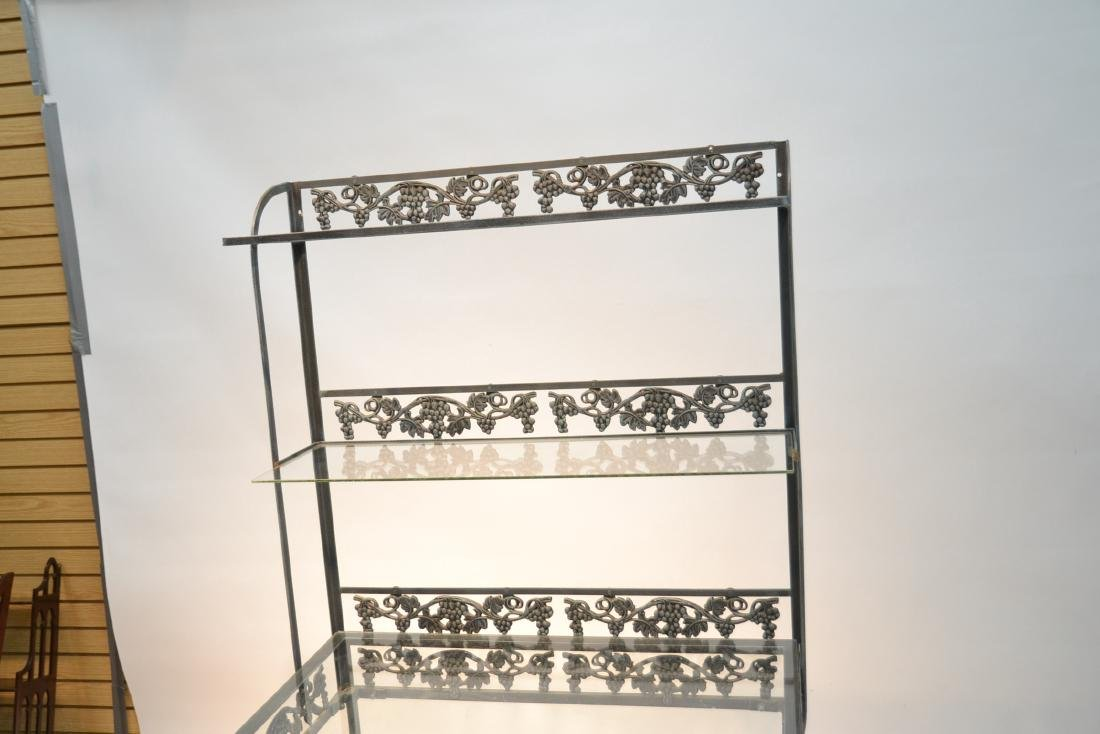 IRON ETAGERE RACK WITH GLASS TOP - 4