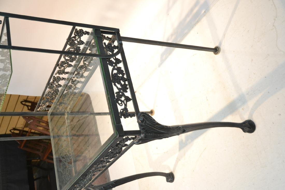 IRON ETAGERE RACK WITH GLASS TOP - 5