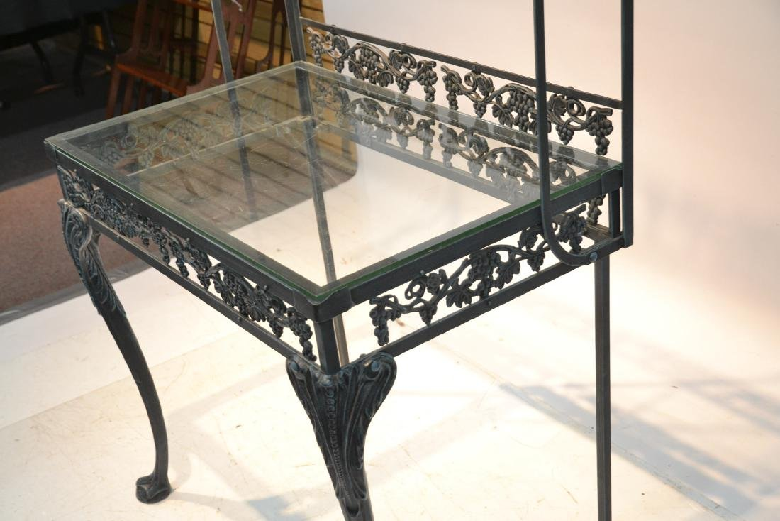 IRON ETAGERE RACK WITH GLASS TOP - 6