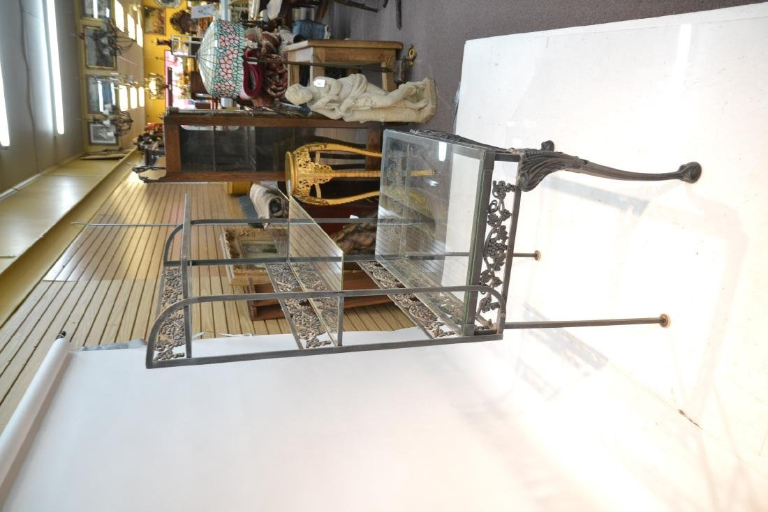 IRON ETAGERE RACK WITH GLASS TOP - 8
