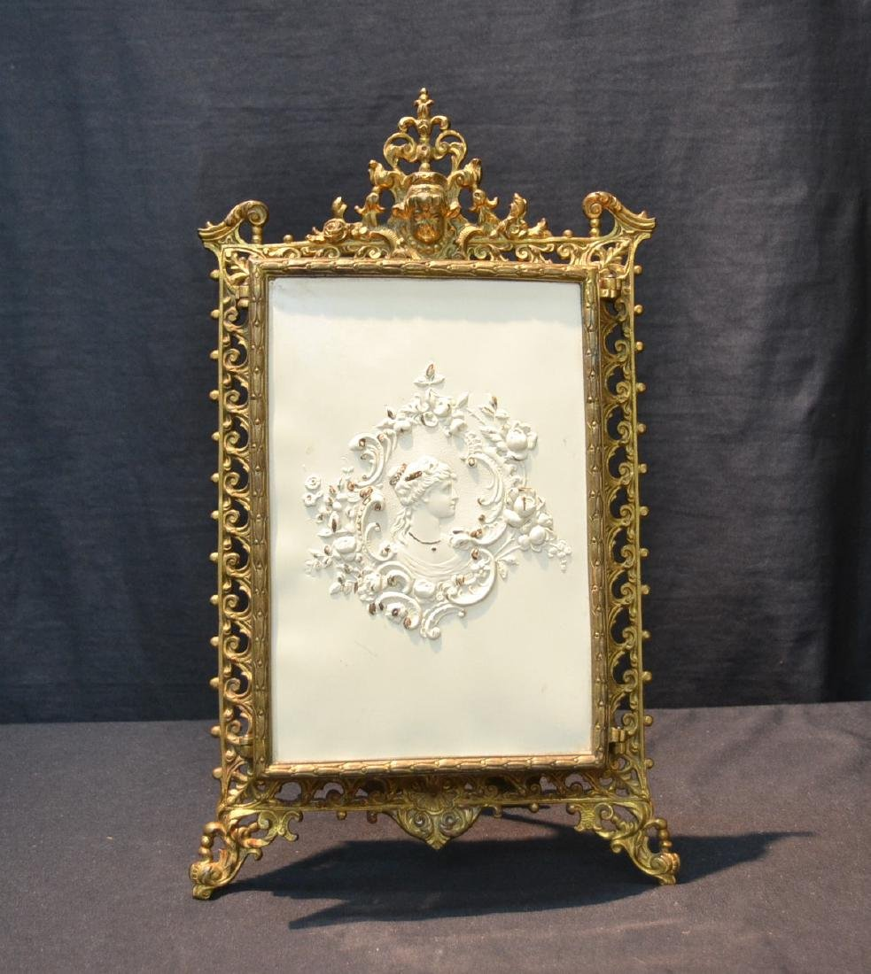 BRONZE TRYPTICH EASEL MIRROR