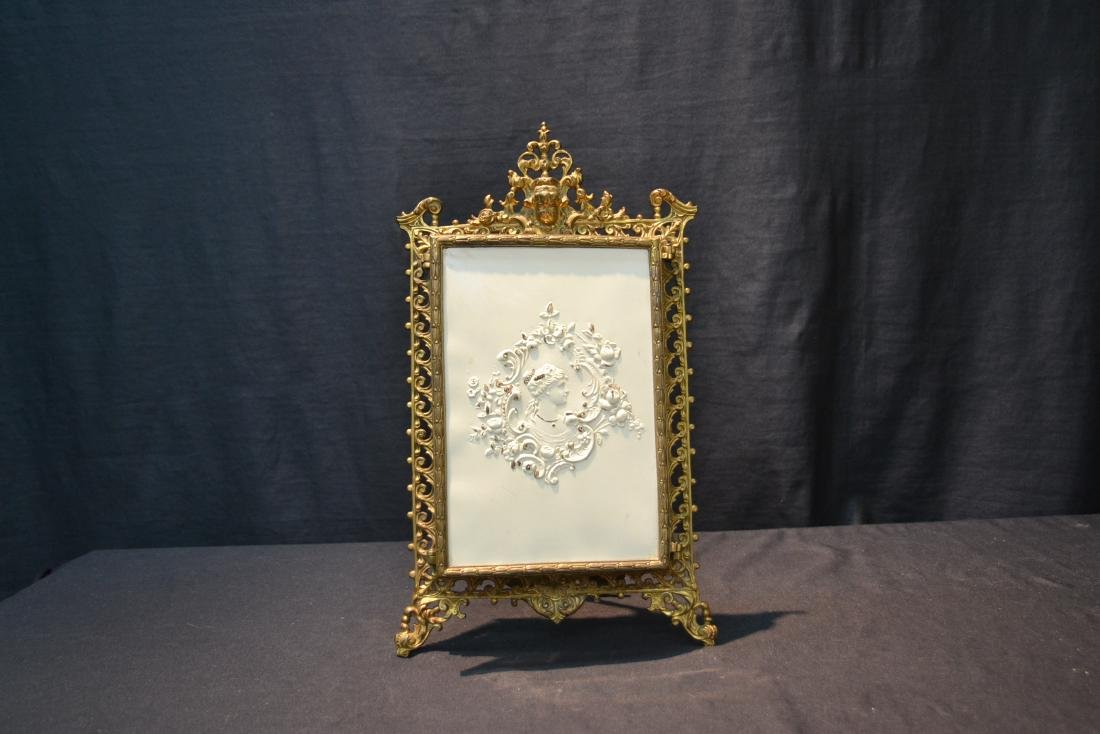 BRONZE TRYPTICH EASEL MIRROR - 2