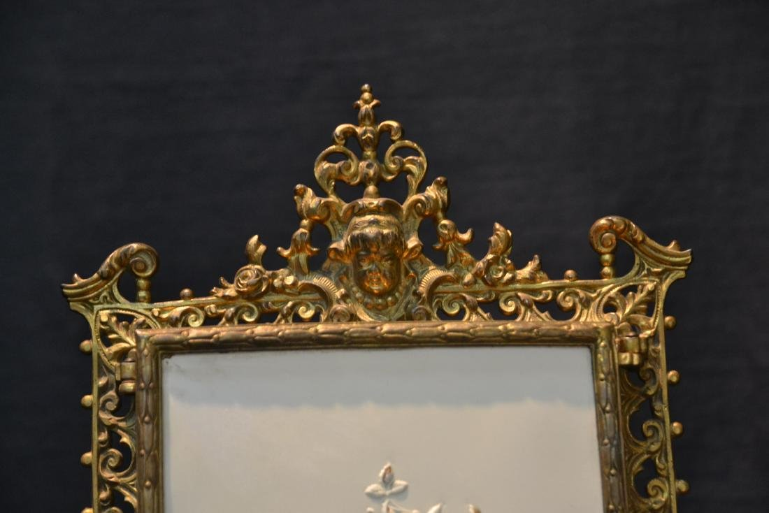 BRONZE TRYPTICH EASEL MIRROR - 3