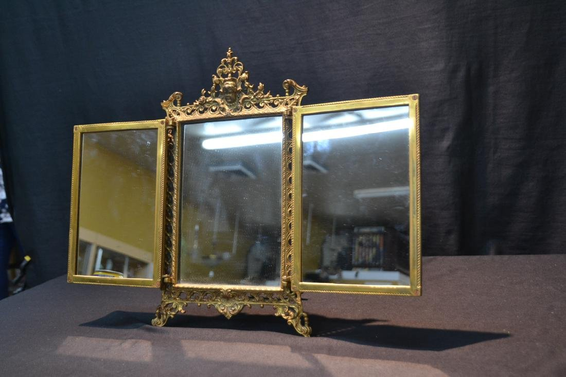 BRONZE TRYPTICH EASEL MIRROR - 6