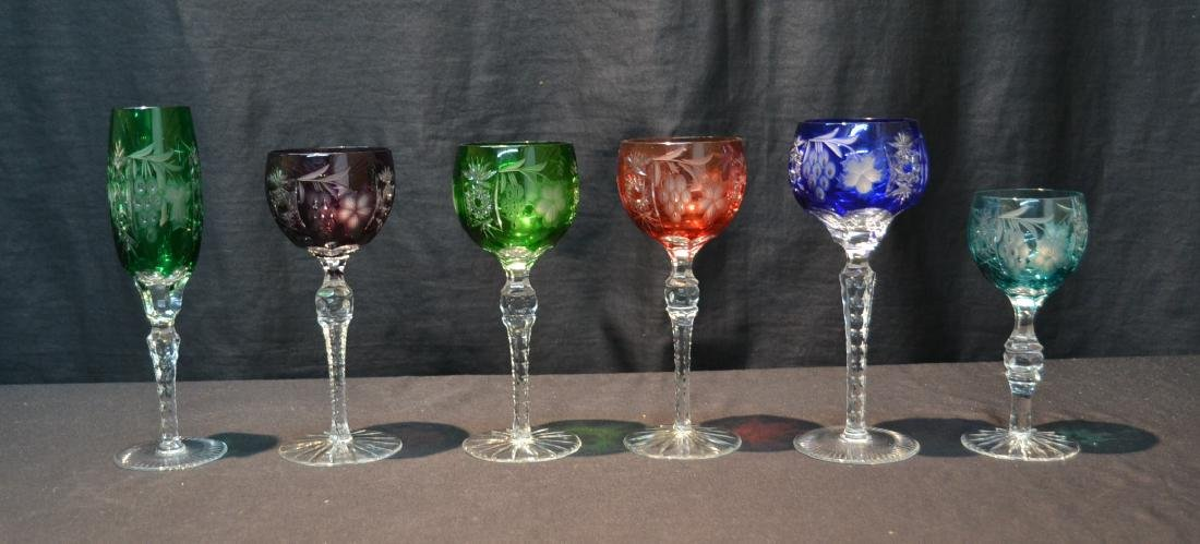 (6) ASSORTED SIZES CUT TO CLEAR GLASSES
