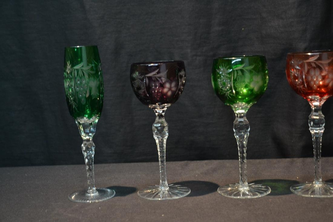 (6) ASSORTED SIZES CUT TO CLEAR GLASSES - 3