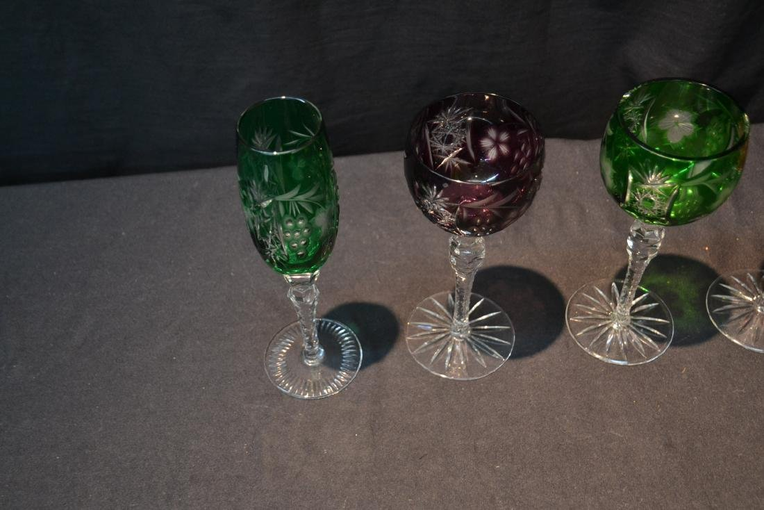 (6) ASSORTED SIZES CUT TO CLEAR GLASSES - 5