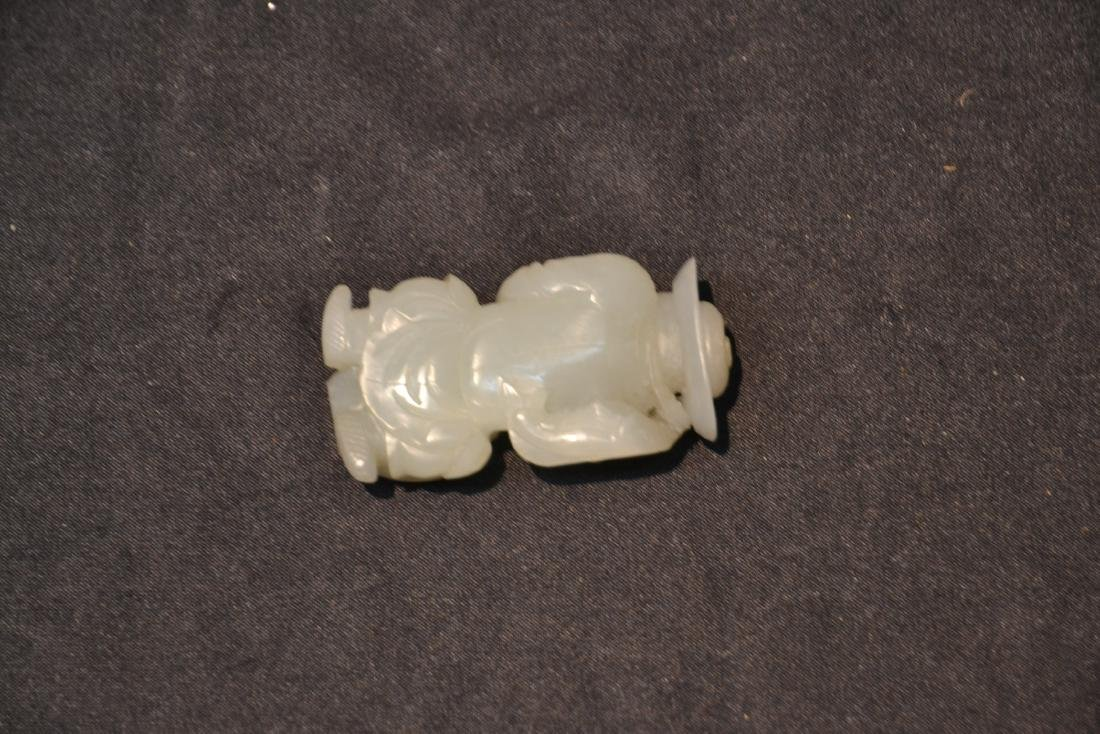 CARVED JADE CHINESE MAN FIGURE - 5