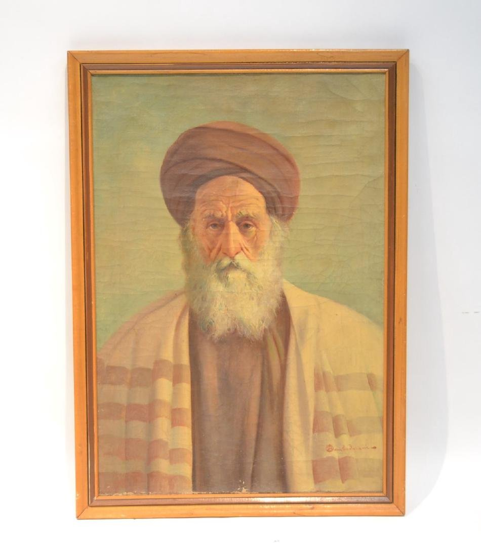 OIL ON CANVAS PORTRAIT OF MIDDLE EASTERN MAN