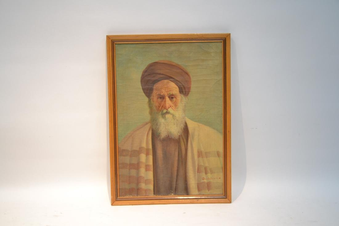 OIL ON CANVAS PORTRAIT OF MIDDLE EASTERN MAN - 2