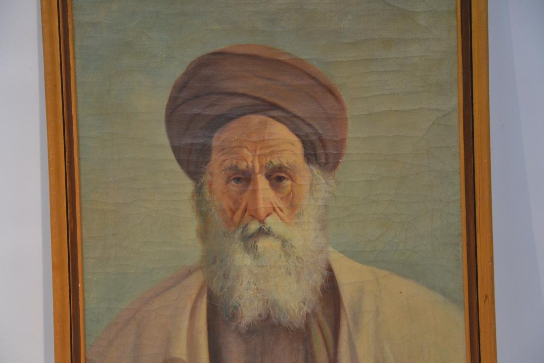 OIL ON CANVAS PORTRAIT OF MIDDLE EASTERN MAN - 3