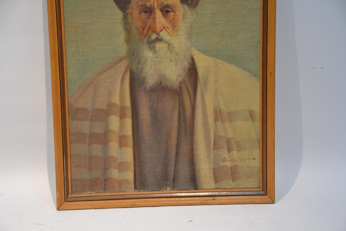 OIL ON CANVAS PORTRAIT OF MIDDLE EASTERN MAN - 4