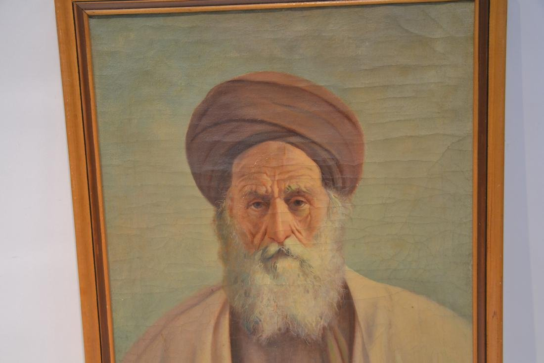 OIL ON CANVAS PORTRAIT OF MIDDLE EASTERN MAN - 5