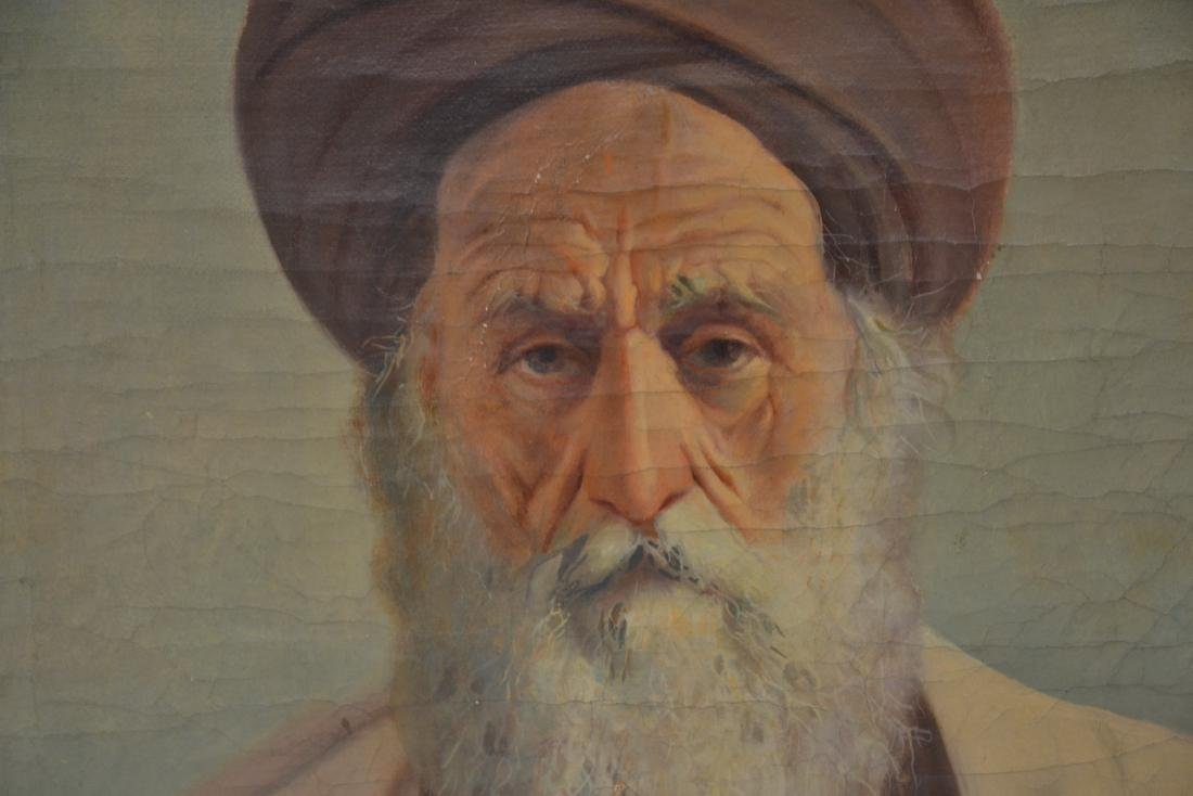 OIL ON CANVAS PORTRAIT OF MIDDLE EASTERN MAN - 6