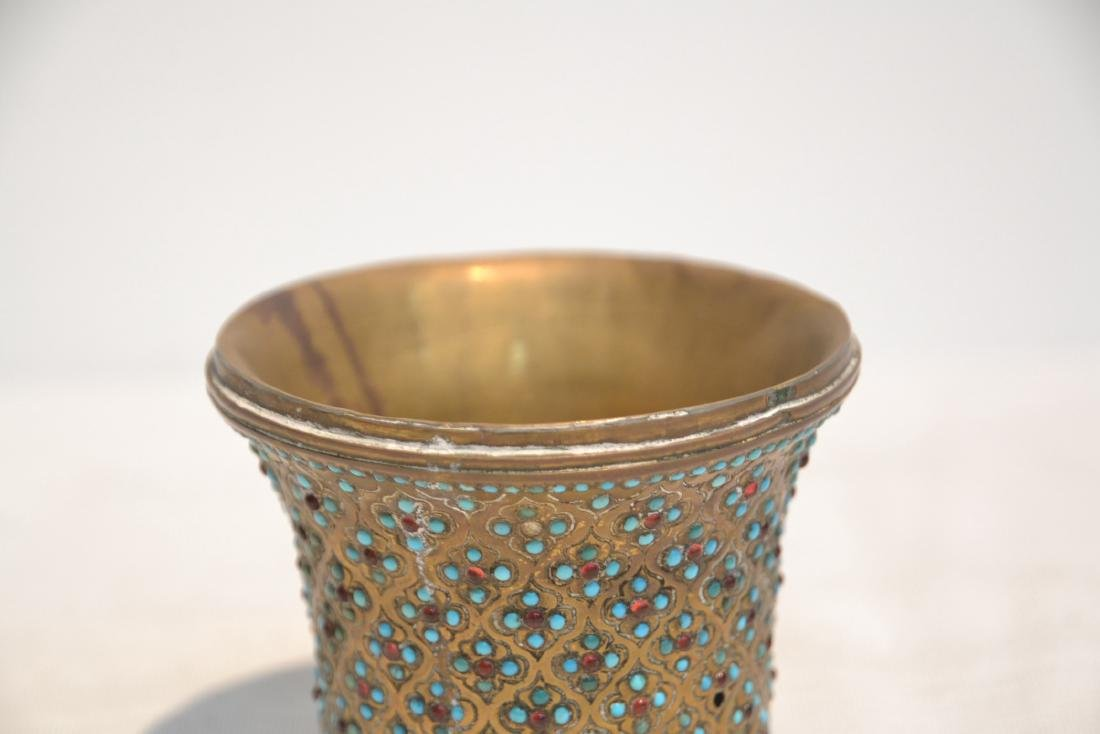 PERSIAN VASE WITH TURQUOISE JEWELS - 4
