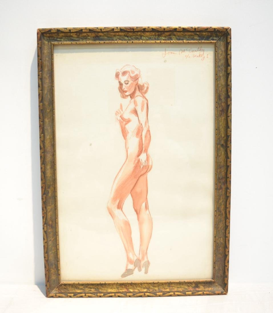 ILLUSTRATION DRAWING OF NUDE WOMAN