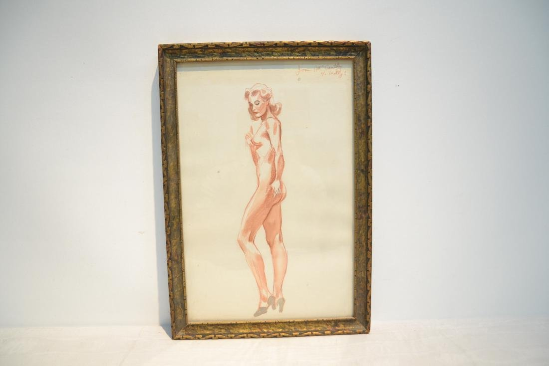 ILLUSTRATION DRAWING OF NUDE WOMAN - 2