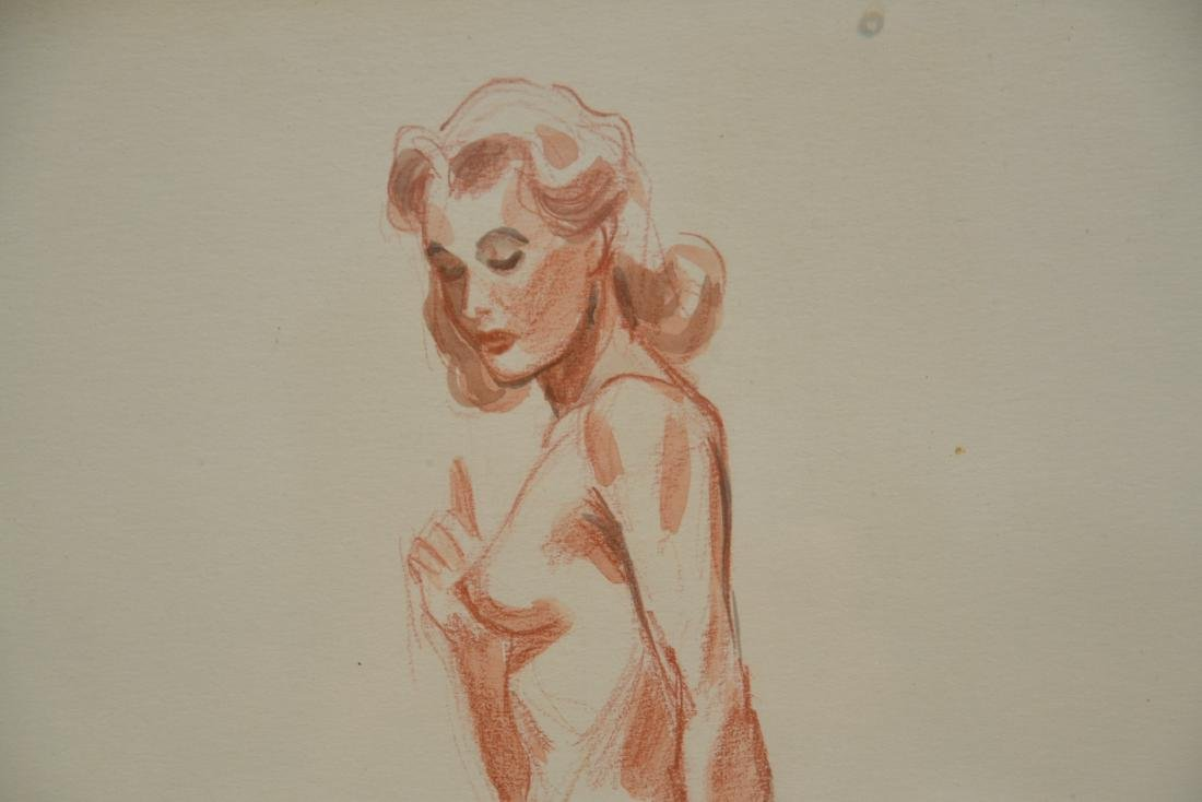 ILLUSTRATION DRAWING OF NUDE WOMAN - 3