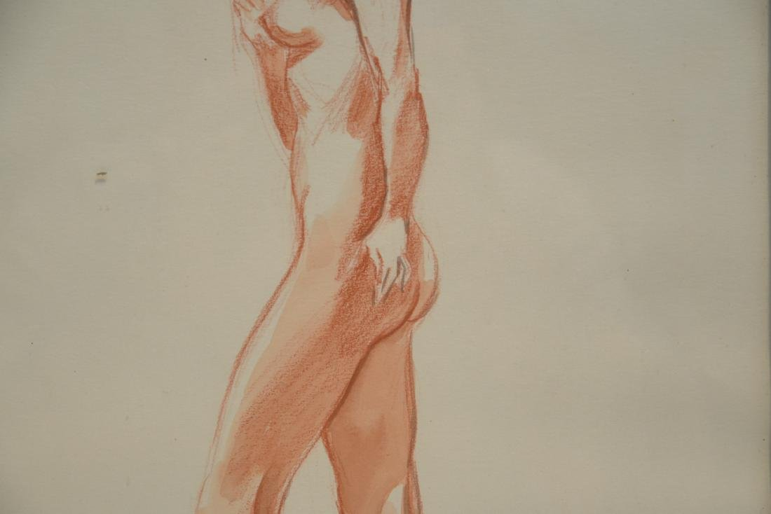 ILLUSTRATION DRAWING OF NUDE WOMAN - 4