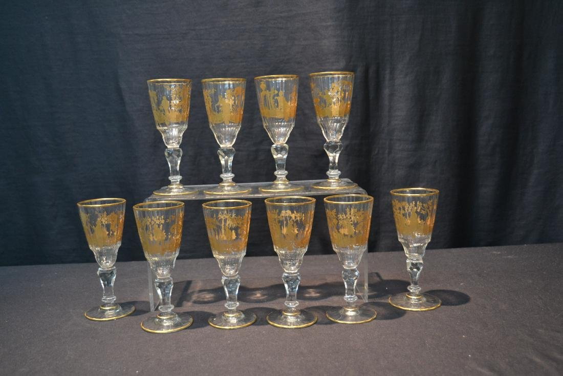 (10) CUT GLASS BACCARAT ? GLASSES WITH - 10