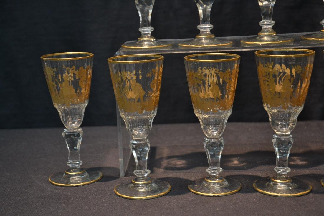 (10) CUT GLASS BACCARAT ? GLASSES WITH - 3