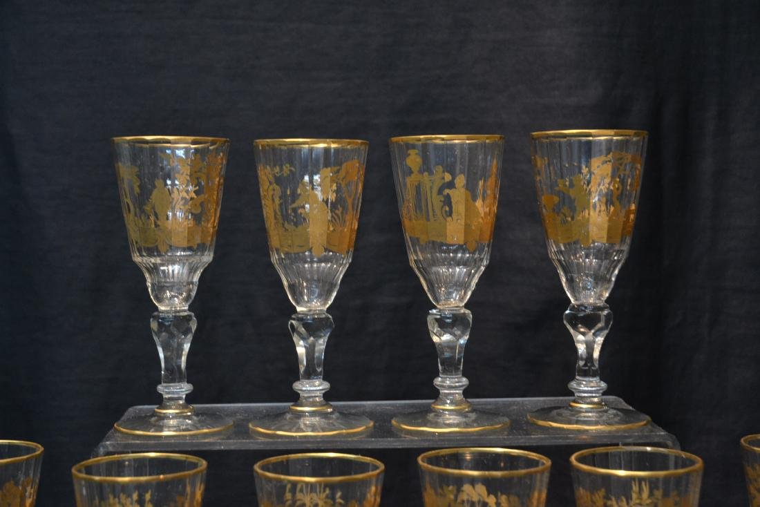(10) CUT GLASS BACCARAT ? GLASSES WITH - 4