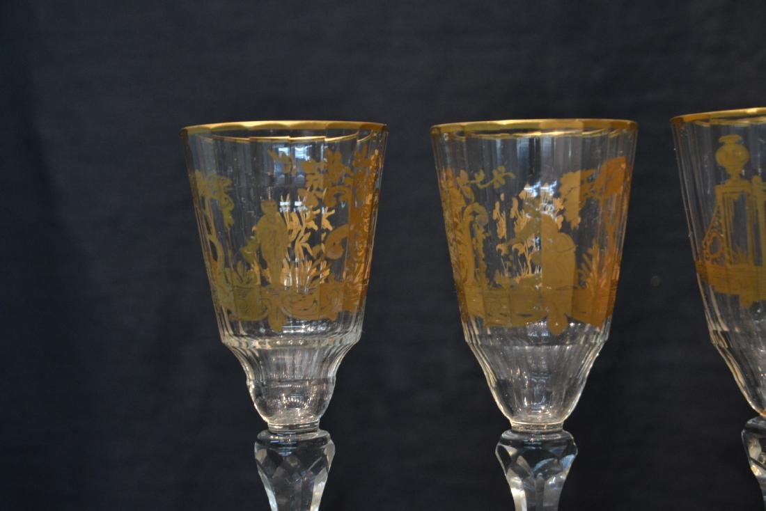 (10) CUT GLASS BACCARAT ? GLASSES WITH - 5