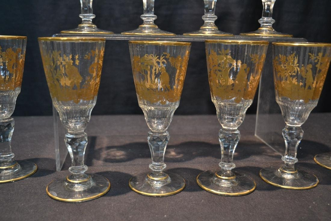 (10) CUT GLASS BACCARAT ? GLASSES WITH - 7