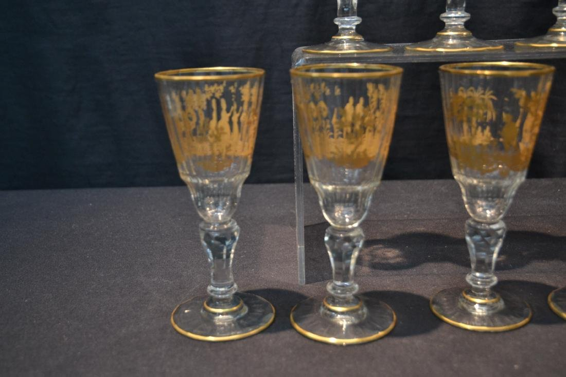 (10) CUT GLASS BACCARAT ? GLASSES WITH - 8