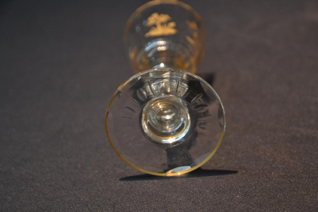 (10) CUT GLASS BACCARAT ? GLASSES WITH - 9