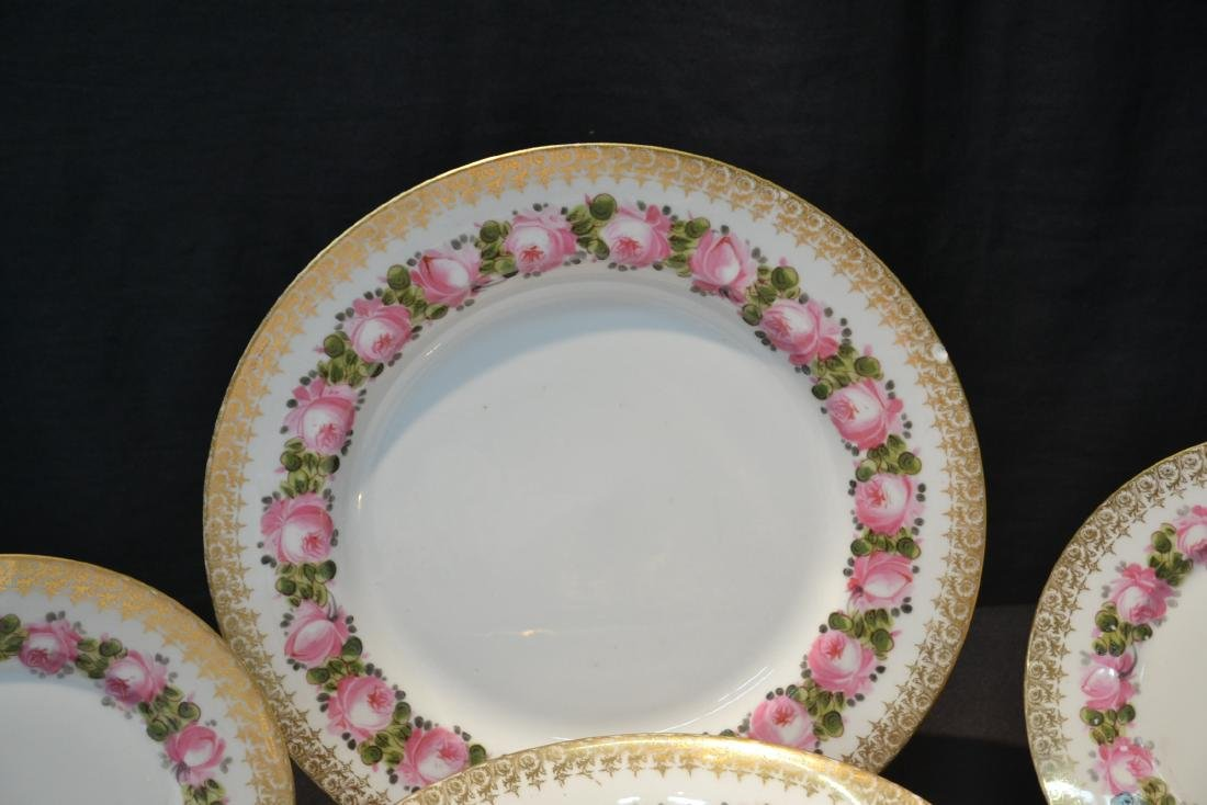 (41)pc D & C LIMOGES CHINA SERVICE WITH FLOWERS - 4